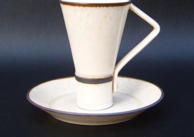 Deco Cup & Saucer (Porcelain)