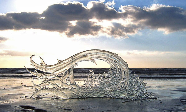 Glass Wave on Beach